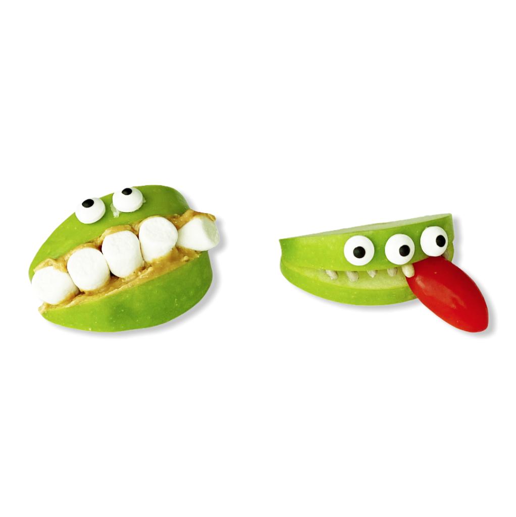 Monsterepler halloween snacks