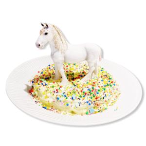 Bursdagskake hest enkel